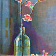 Cherry Blossoms In A Bottle Art Print