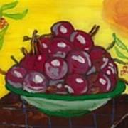 Cherry Bowl Print by Enrico Pischiera