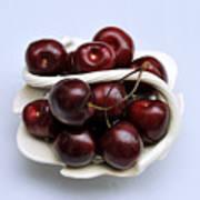 Cherry Dish Art Print
