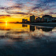 Cherry Grove Beach Front Sunset Art Print