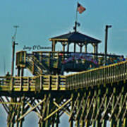 Cherry Grove Pier - Closeup End Of Pier Art Print