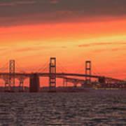 Chesapeake Bay Bridge Sunset Art Print