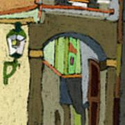 Chesky Krumlov Old Street Latran  Art Print