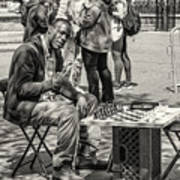 Chess Player Art Print