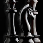 Chessmen II Art Print by Tom Mc Nemar