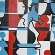 Chessmen Art Print