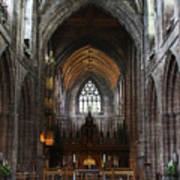 Chester Cathedral England Uk Inside The Nave Art Print