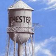 Chester Water Tower Ne Art Print