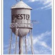Chester Water Tower Poster Art Print