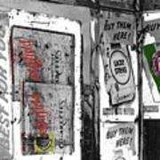 Chesterfield And Lucky Strike Cigarette Signs S. Meyer Avenue Barrio, Tucson, Az 1967-2016 Art Print