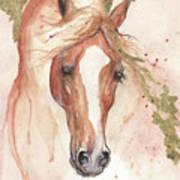 Chestnut Arabian Horse 2016 08 02 Art Print