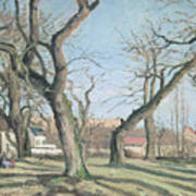 Chestnut Trees At Louveciennes Art Print by Camille Pissarro