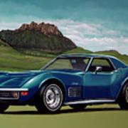 Chevrolet Corvette Stingray 1971 Painting Art Print
