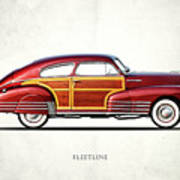 Chevrolet Fleetline 1948 Art Print