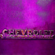 Chevrolet Pink Art Print