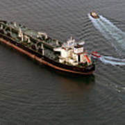 Chevron Pegasus Voyager Oil Tanker Art Print