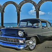 Chevy Belair In Mexico Art Print
