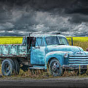 Chevy Truck Stranded By The Side Of The Road Art Print