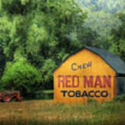 Chew Red Man Art Print