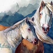 Cheyenne And Tripod Art Print