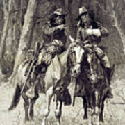 Cheyenne Scouts Patrolling The Big Timber Of The North Canadian, Art Print