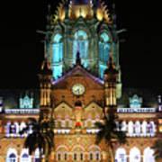 Chhatrapati Shivaji Terminus Formerly Victoria Terminus In Mumbai-3 Art Print