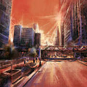 Chicaco Street 3 Art Print