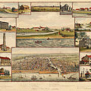Chicago 1779-1857 Art Print