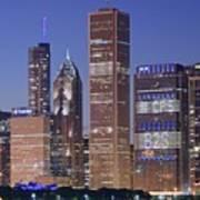 Chicago 2018 Blue Hour Art Print