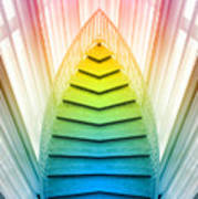 Chicago Art Institute Staircase Pa Prism Mirror Image Vertical 02 Art Print