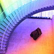 Chicago Art Institute Staircase Pa Prismatic Art Print