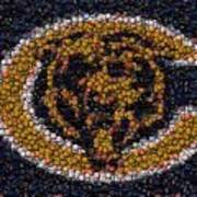 Chicago Bears Bottle Cap Mosaic Art Print by Paul Van Scott