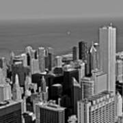 Chicago Birdview Art Print