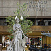 Chicago Board Of Trade Signage Art Print