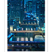 Chicago Bridges Poster Art Print