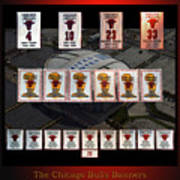 Chicago Bulls Banners Collage Art Print
