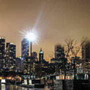 Chicago City At Night Art Print