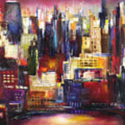 Chicago City View Art Print