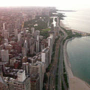Chicago Coastline Art Print