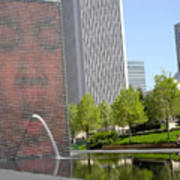 Chicago Crown Fountain 8 Art Print