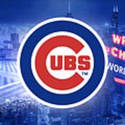 Chicago Cubs Baseball Art Print