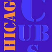 Chicago Cubs Baseball Team Vintage Original Typpography Art Print