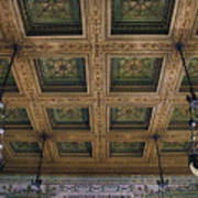Chicago Cultural Center Staircase Ceiling Art Print