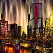Chicago Draws The Curtain Art Print
