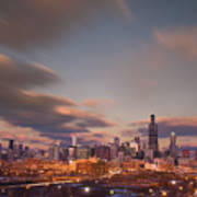 Chicago Dusk Art Print