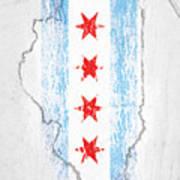 Chicago Flag Art Print
