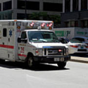 Chicago Fire Department Ems Ambulance 35 Art Print