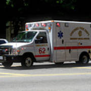 Chicago Fire Department Ems Ambulance 62 Art Print