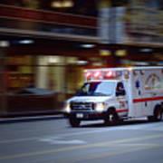 Chicago Fire Department Ems Ambulance 74 Art Print