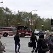 Chicago Fire Department Truck 13 Art Print
